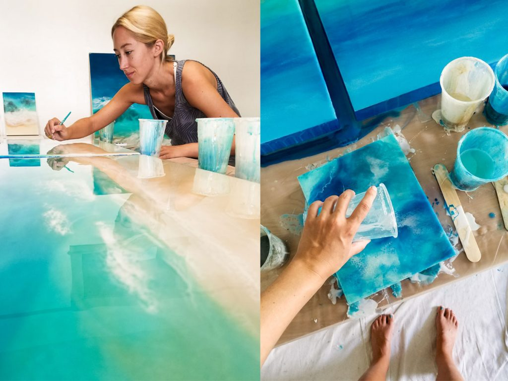 resin art painting